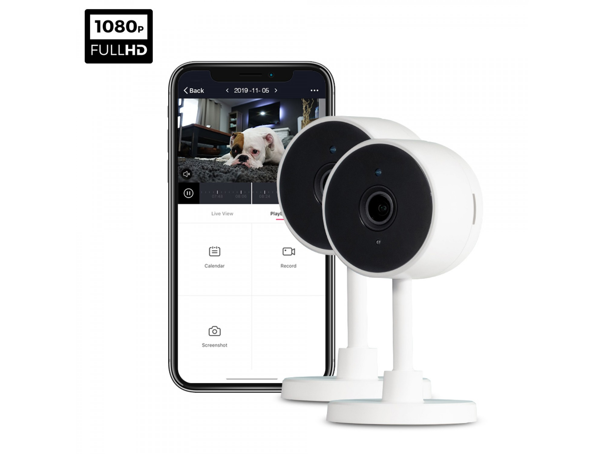 ipixo WiFi Indoor Home Security Camera (Pack of 2)