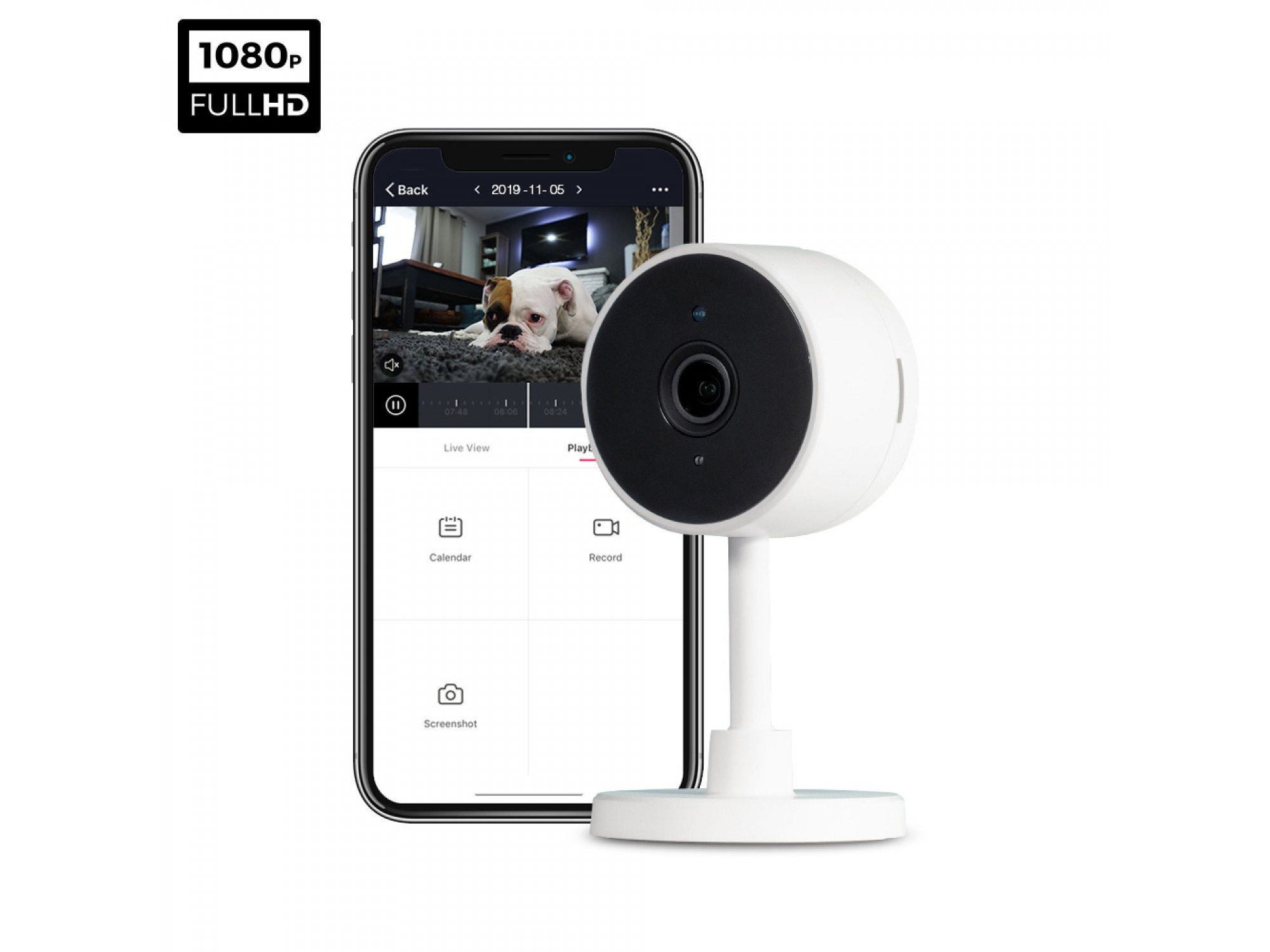 ipixo WiFi Indoor 1080p Home Security Camera - Motion Alerts - Automatic night vision - Two-Way Audio - No monthly costs