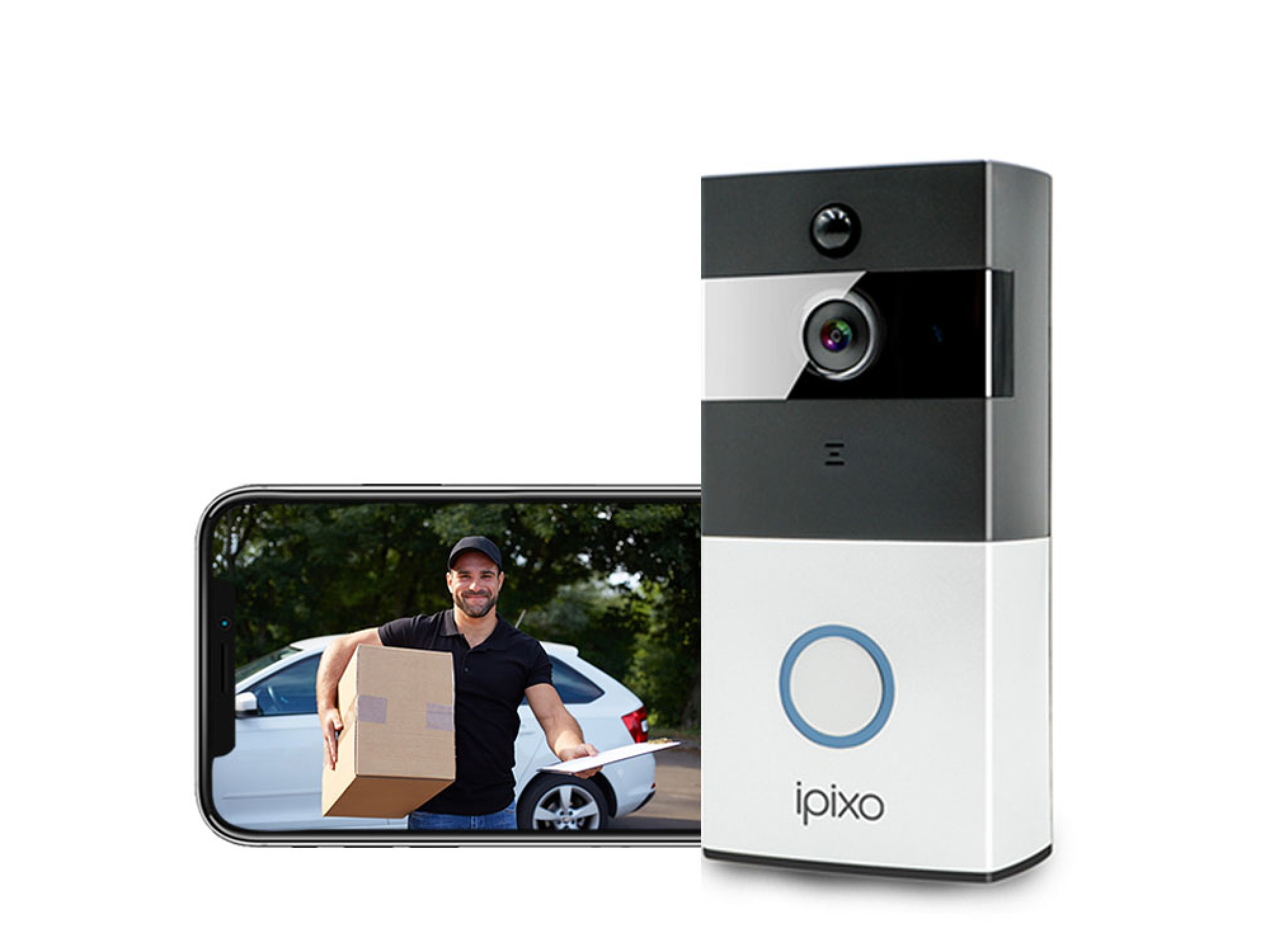 ipixo Wireless Video Doorbell Camera with Chime