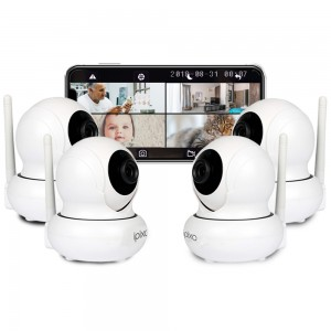 ipixo Rotating WiFi IP Home Security Camera (Pack of 4)