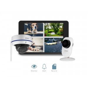 ipixo WiFi Home Security CCTV Camera System HD. 1 Indoor + 1 Outdoor WiFi IP Security Camera