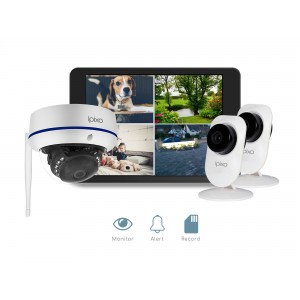 ipixo WiFi Home Security Camera CCTV System. Three 128GB IP Cameras.