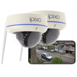 ipixo WiFi Dome Security Camera (Pack of 2)