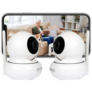 ipixo Rotating WiFi IP Home Security Camera (Pack of 2)
